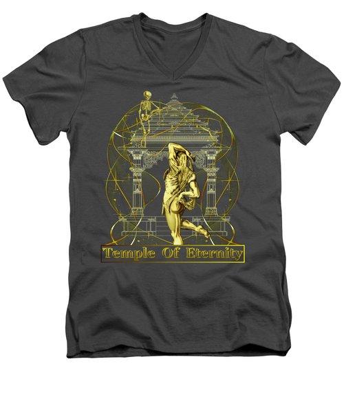 Temple Of Eternity Men's V-Neck T-Shirt