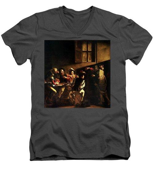 The Calling Of St. Matthew Men's V-Neck T-Shirt