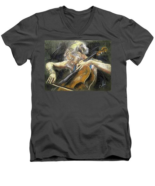 The Cellist Men's V-Neck T-Shirt