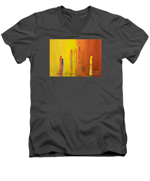 The Conversation Men's V-Neck T-Shirt by Gallery Messina