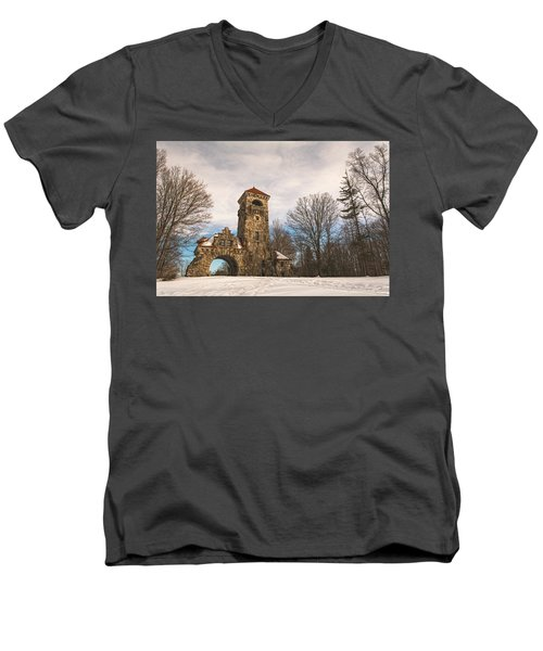 The Entrance Men's V-Neck T-Shirt by Angelo Marcialis