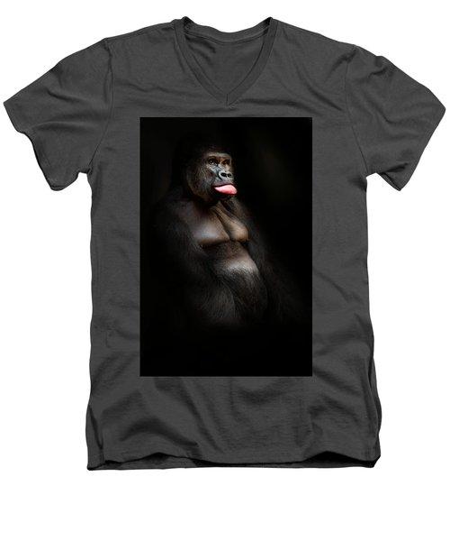 The Gorilla Men's V-Neck T-Shirt