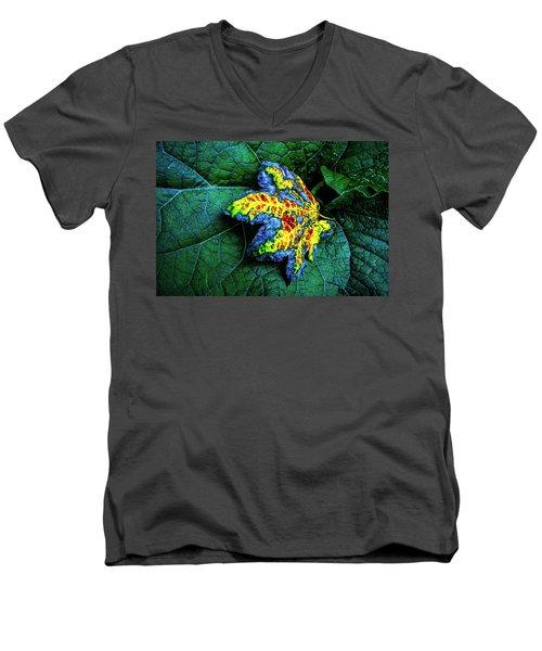 The Leaf Men's V-Neck T-Shirt