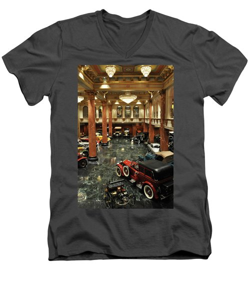 Grand Salon At The Nethercutt Men's V-Neck T-Shirt by Kyle Hanson