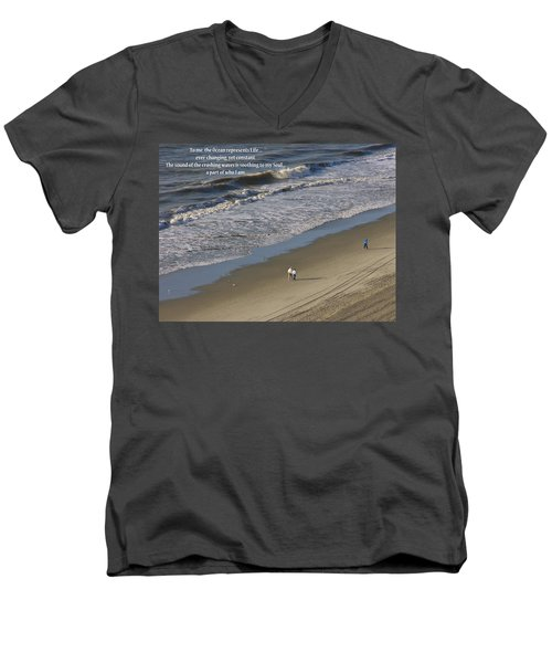 The Ocean Men's V-Neck T-Shirt by Rhonda McDougall