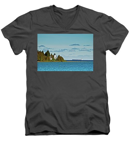 The Old Presque Isle Lighthouse Men's V-Neck T-Shirt