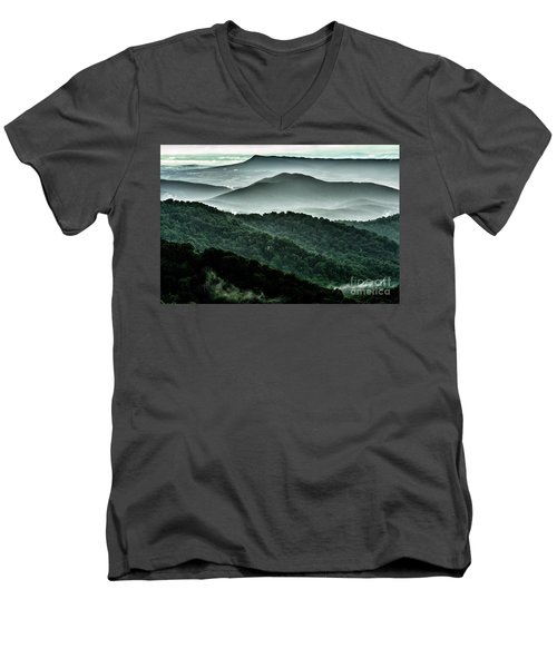 The Point Overlook Men's V-Neck T-Shirt by Thomas R Fletcher