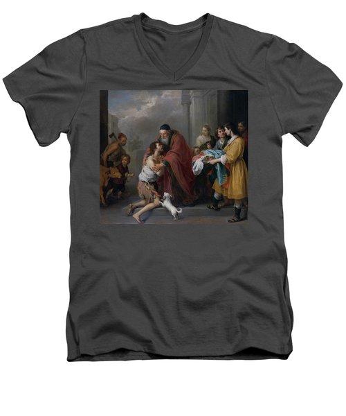 The Return Of The Prodigal Son Men's V-Neck T-Shirt