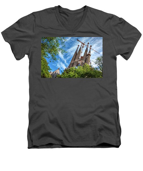The Sagrada Familia Men's V-Neck T-Shirt