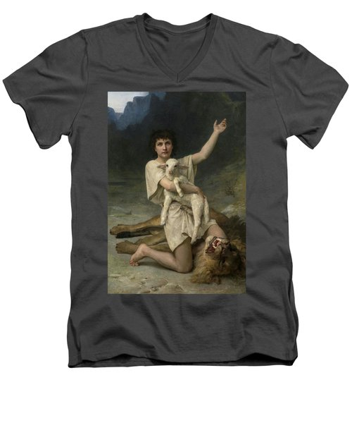 The Shepherd David Triumphant Men's V-Neck T-Shirt