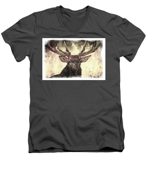 The Stag Men's V-Neck T-Shirt