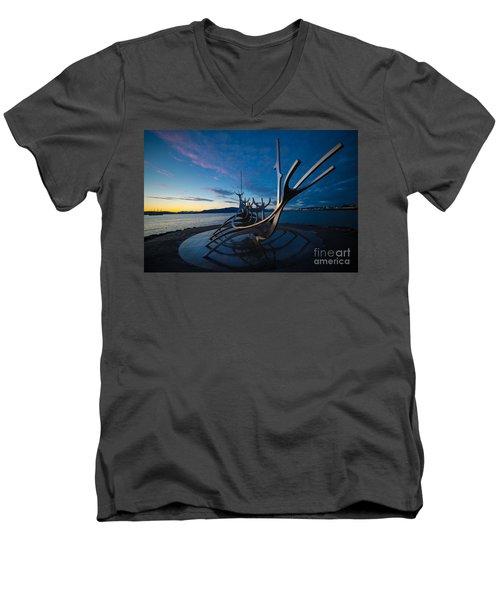 The Sun Voyager  Men's V-Neck T-Shirt