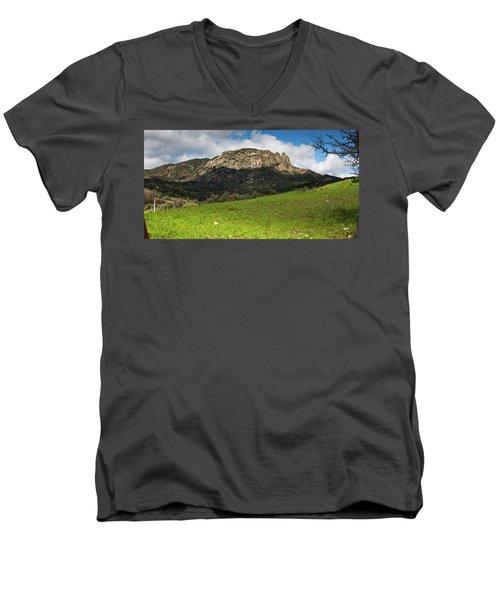 The Three Finger Mountain Men's V-Neck T-Shirt