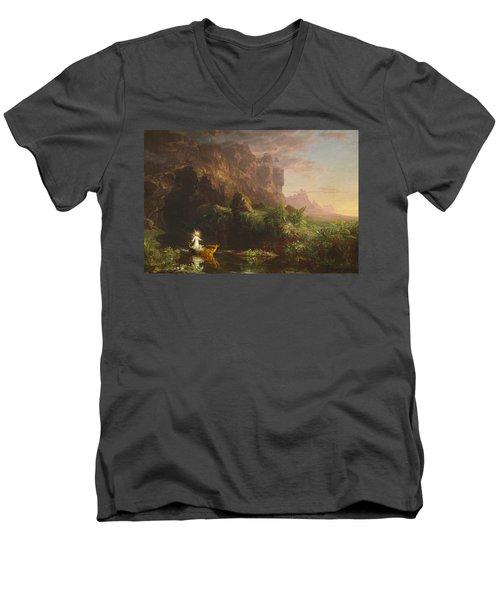 The Voyage Of Life, Childhood Men's V-Neck T-Shirt