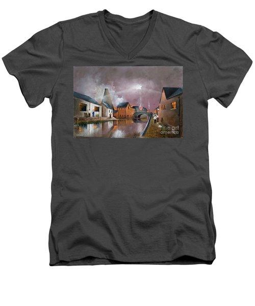 The Wordsley Cone Men's V-Neck T-Shirt