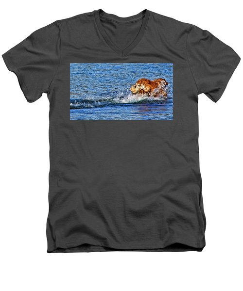 There She Goes Men's V-Neck T-Shirt