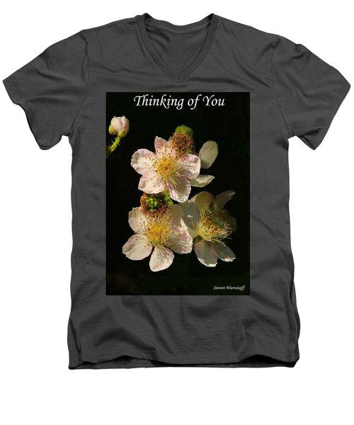 Thinking Of You Men's V-Neck T-Shirt by Steve Warnstaff
