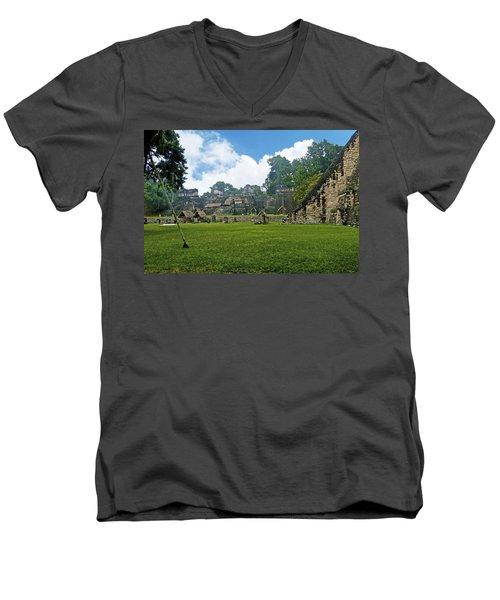 Tikal, Guatemala Men's V-Neck T-Shirt by Marius Sipa