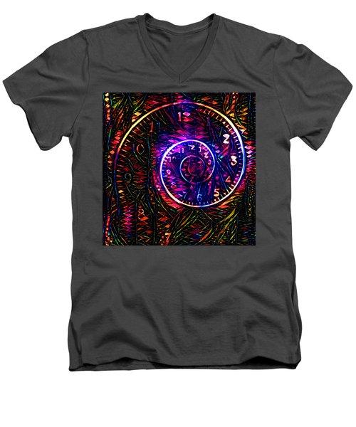 Time Spiral Men's V-Neck T-Shirt