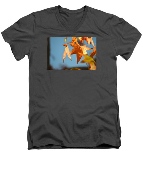 Men's V-Neck T-Shirt featuring the photograph  It Feels Like Fall by Alex King
