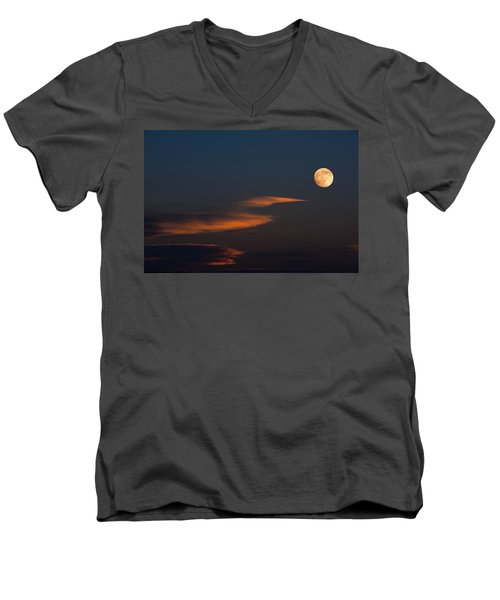 To The Moon Men's V-Neck T-Shirt by Don Spenner