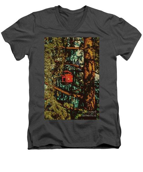 Train Bird House Men's V-Neck T-Shirt