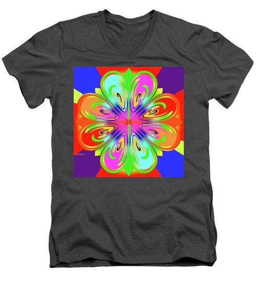 Tribute To Peter Max Men's V-Neck T-Shirt