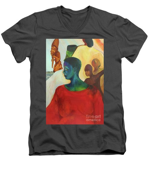 Trickster Men's V-Neck T-Shirt by Daun Soden-Greene