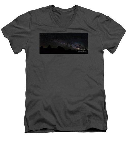 Trona Pinnacles Milky Way Men's V-Neck T-Shirt