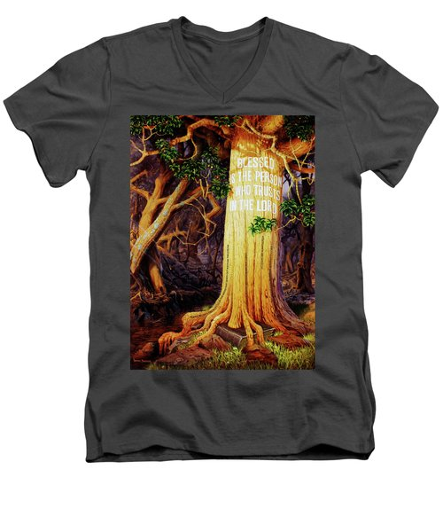 Trust In The Lord Men's V-Neck T-Shirt