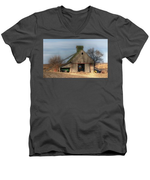 Tucked  Away In Rural Iowa Men's V-Neck T-Shirt