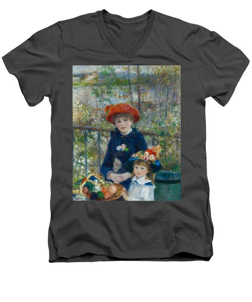 Two Sisters On The Terrace Men's V-Neck T-Shirt