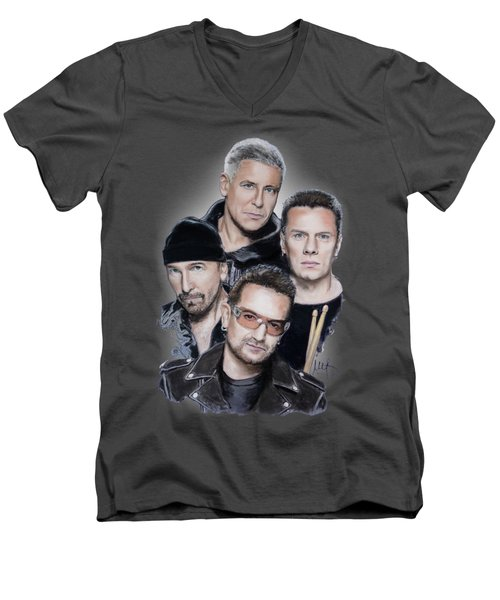 U2 Men's V-Neck T-Shirt