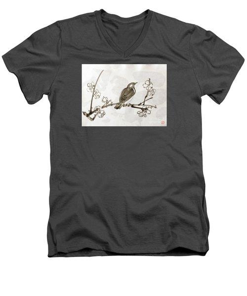 Ume Uguisu Men's V-Neck T-Shirt