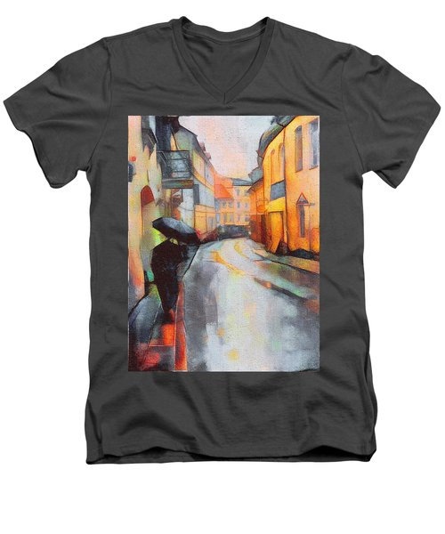 Under The Rain Men's V-Neck T-Shirt