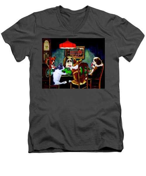 Under The Table Men's V-Neck T-Shirt by Ron Chambers