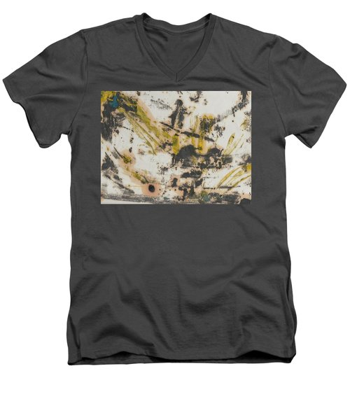 Men's V-Neck T-Shirt featuring the painting Untitled  by Patrick Morgan