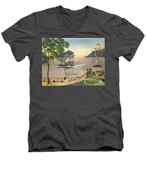 U S Mail Boat Men's V-Neck T-Shirt
