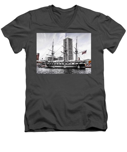 U.s.s. Constellation Men's V-Neck T-Shirt