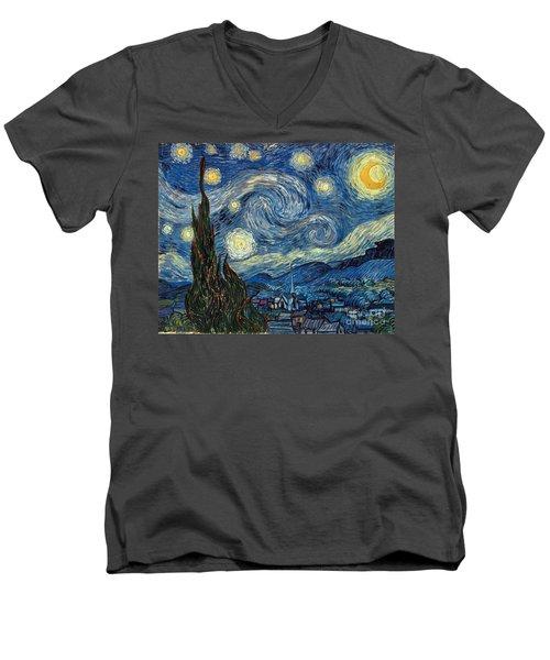 Van Gogh Starry Night Men's V-Neck T-Shirt