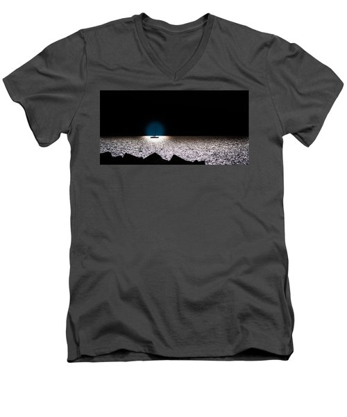 Men's V-Neck T-Shirt featuring the photograph Vela by Bruno Spagnolo