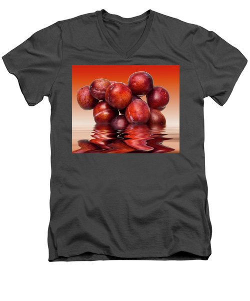 Victoria Plums Men's V-Neck T-Shirt by David French