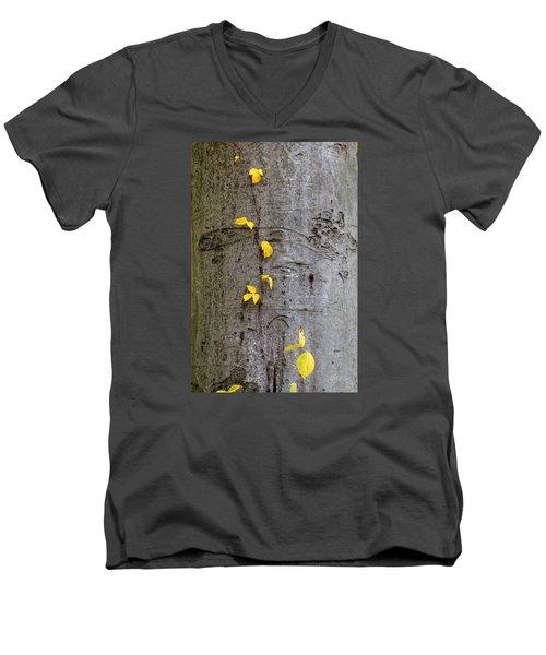 Men's V-Neck T-Shirt featuring the photograph Vine Climber by Deborah  Crew-Johnson