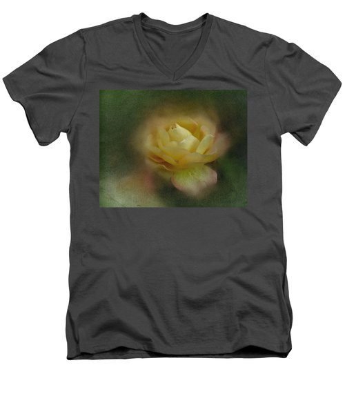 Vintage October Rose  Men's V-Neck T-Shirt by Richard Cummings