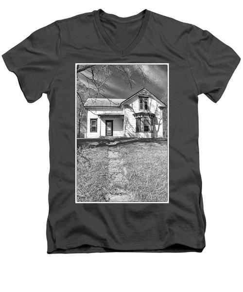 Visiting The Old Homestead Men's V-Neck T-Shirt by Guy Whiteley