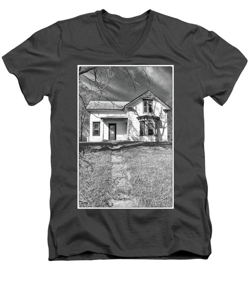 Visiting The Old Homestead Men's V-Neck T-Shirt