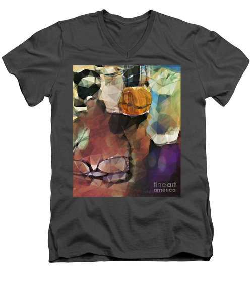 Men's V-Neck T-Shirt featuring the photograph Waiting by Kathie Chicoine