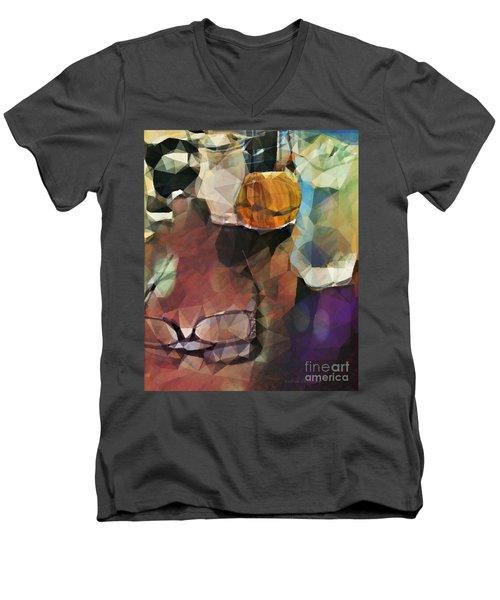 Waiting Men's V-Neck T-Shirt by Kathie Chicoine