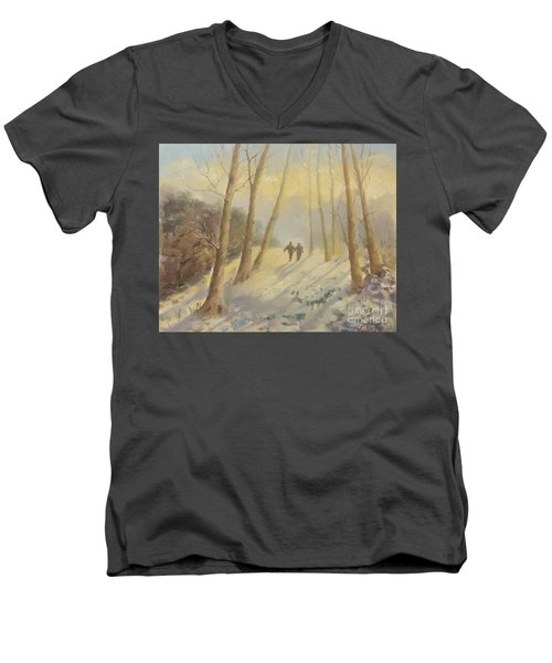 Walking In Sunshine Men's V-Neck T-Shirt