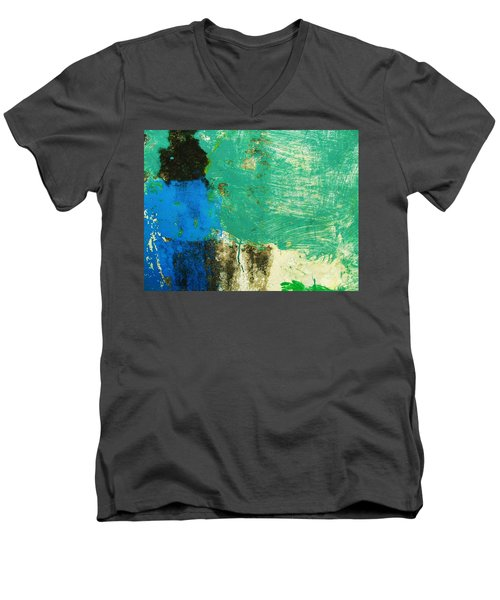 Wall Abstract 70 Men's V-Neck T-Shirt by Maria Huntley